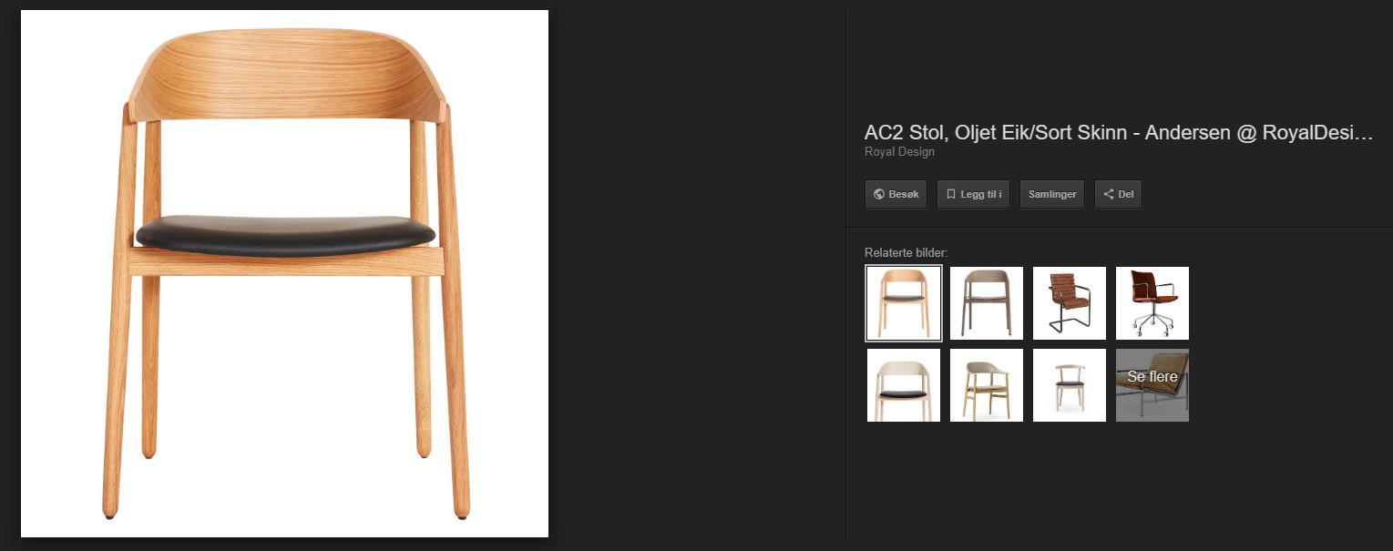 Unified Commerce blogg eksempel bildesøk stol svart skinn