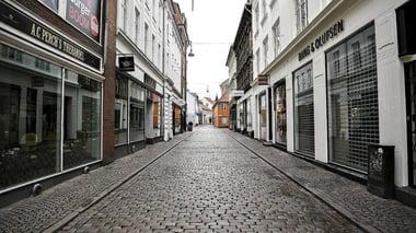 Tomme gader er lige nu en del af hverdagen i Danmark. Foto: Ernst van Norde