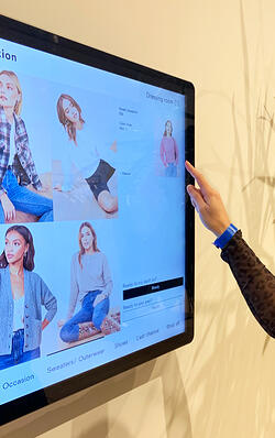 Touchscreen in Reformation store in New York