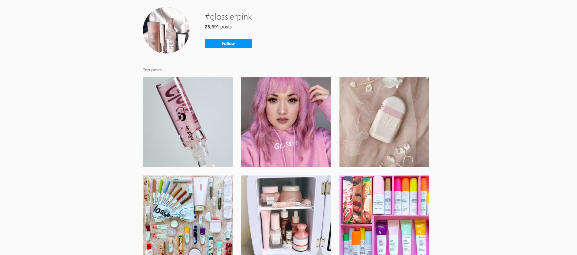 Glossier commerce example