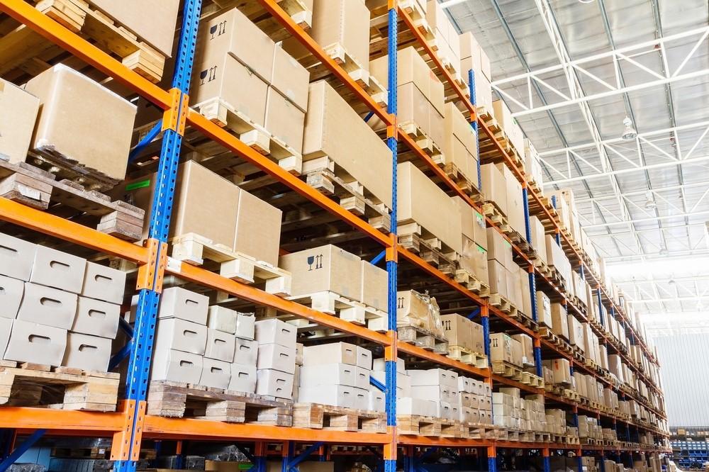 Inside a warehouse