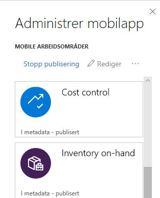 Mobilapp - administrer mobilapp