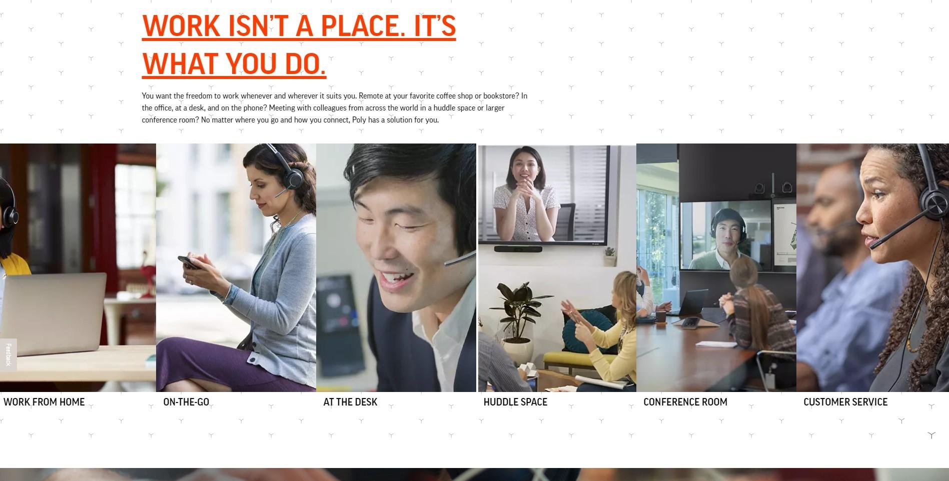 Polycom website example