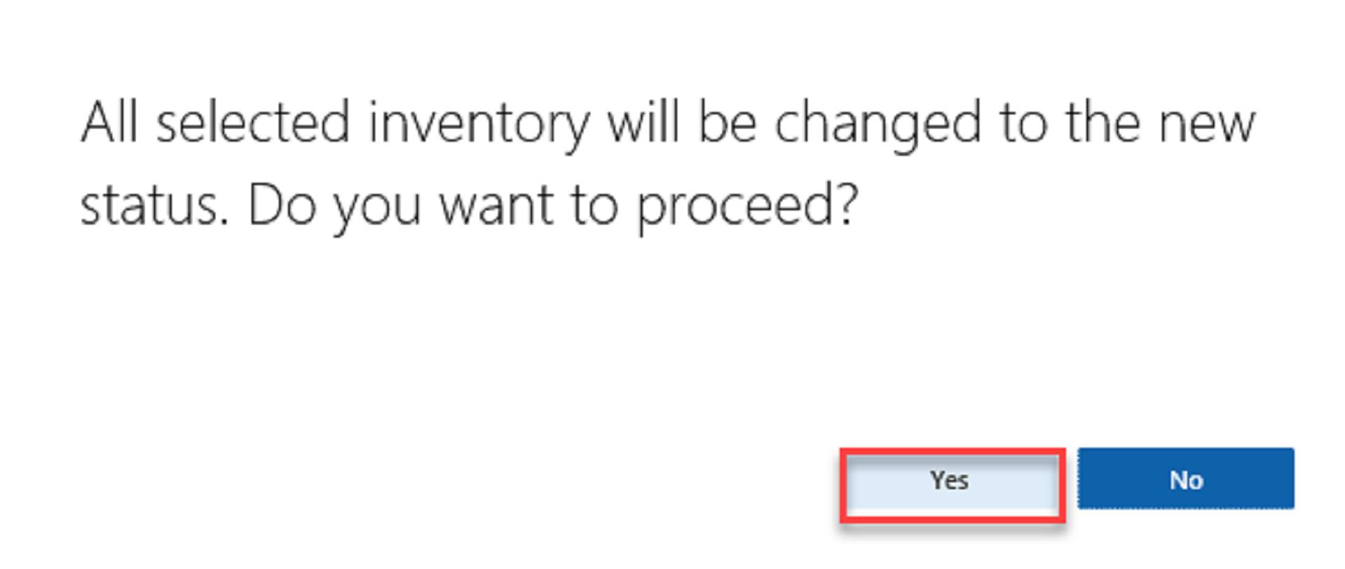 Inventory Status - 10-1