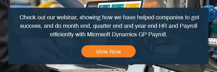 Microsoft Dynamics GP Payroll &HR