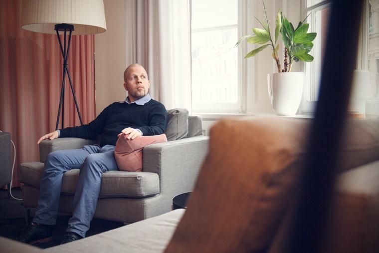 Magnus Kjellberg på iStones huvudkontor i Stockholm.