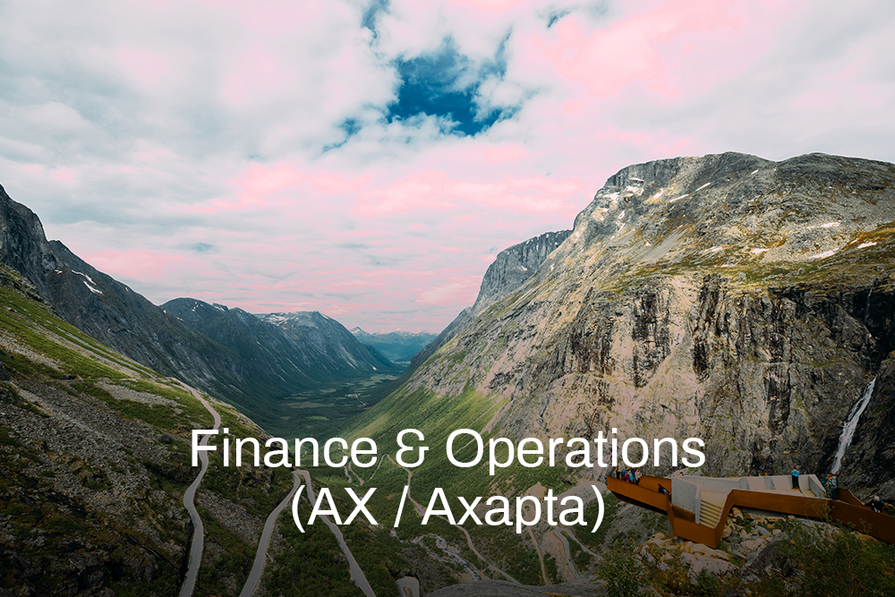 Finance & Operations (AX - Axapta)